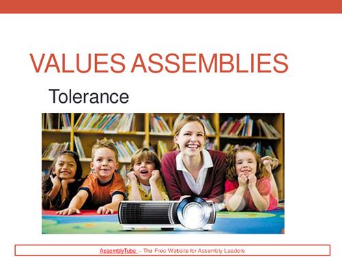 3 Values PowerPoints - Tolerance - Responsibility - Respect