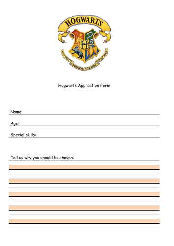 Hogwarts Application Acceptance Letters Lower Level 1