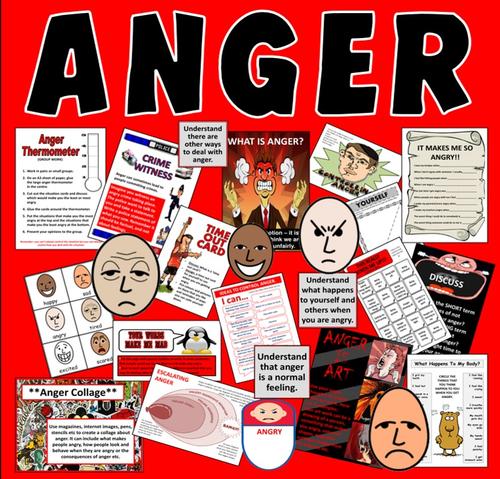 ANGER MANAGEMENT - LESSONS, TEACHING RESOURCES KS2, KS3, KS4 EMOTIONS BEHAVIOUR