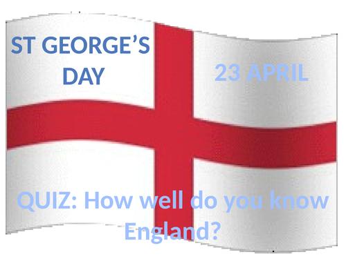 British Values St George's Day Quiz