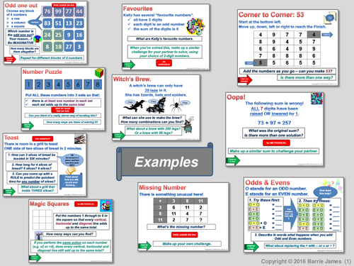 Maths Starters 1 (Powerpoint with answers) ... get thinking mathematically!