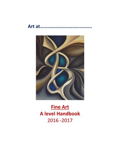 A level Art Student Handbook