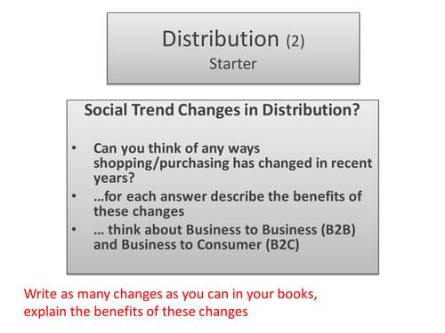 Business studies- Distribution