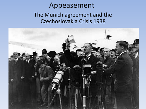 an analysis of the munich pact and the appeasement of hitler