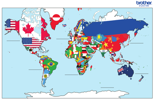 The world map by yeahoronitslastfingers teaching resources tes gumiabroncs Gallery