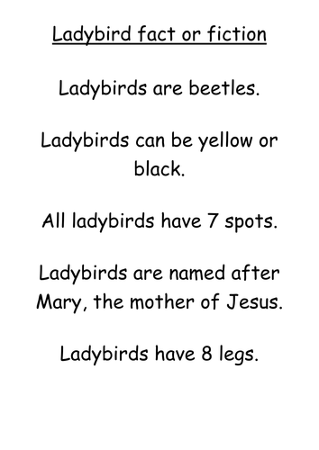 Ladybirds - fact or fiction?