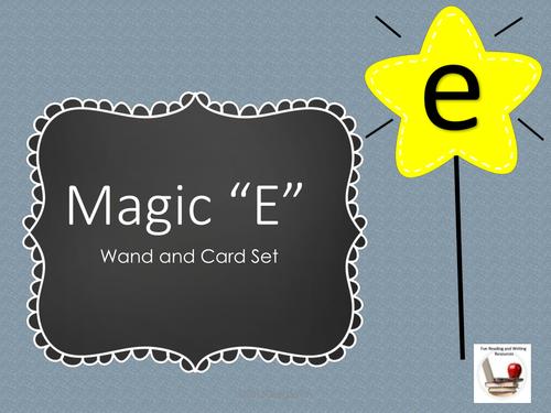 Magic E Wand and Cards