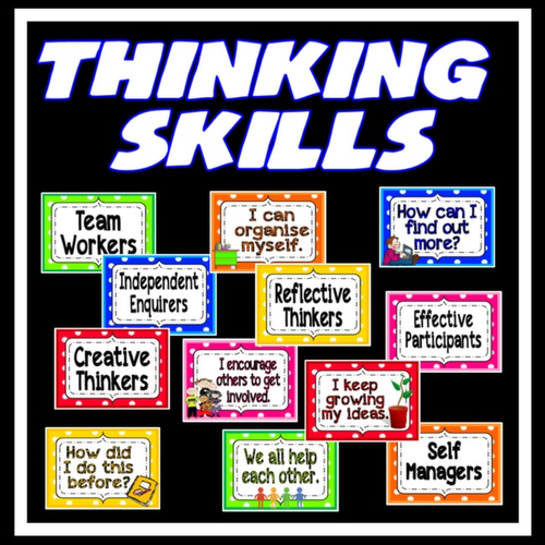 Classroom Job Ideas For Kindergarten ~ Personal learning thinking skills posters teaching