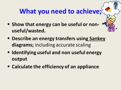 KS3 level 3_4  Energy transformations and sankey diagrams