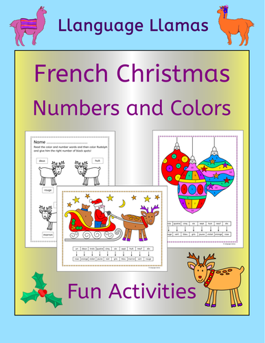 spanish christmas numbers and colors activities by llanguagellamas us teacher lessons tes. Black Bedroom Furniture Sets. Home Design Ideas