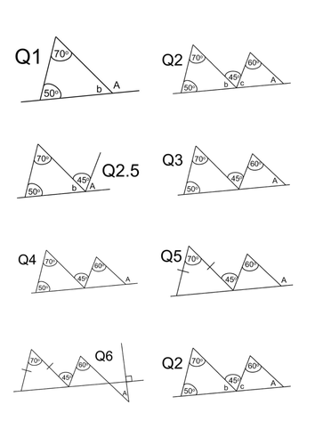 Finding Missing Angles on Triangle Problem Solving Harder