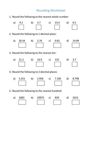 amazing ks3 decimals worksheet rounding by curingd teaching fatmatoru. Black Bedroom Furniture Sets. Home Design Ideas