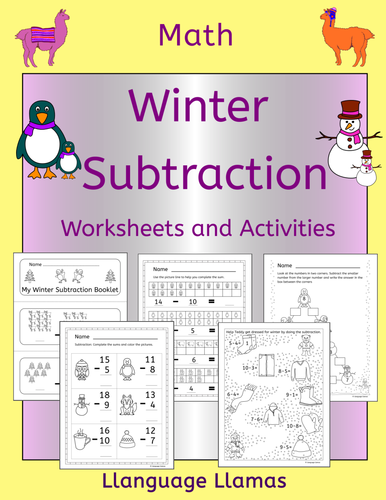 winter addition worksheets and activities by llanguagellamas us teacher lessons tes. Black Bedroom Furniture Sets. Home Design Ideas