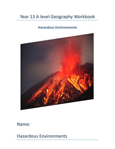 Natural Hazards Workbook