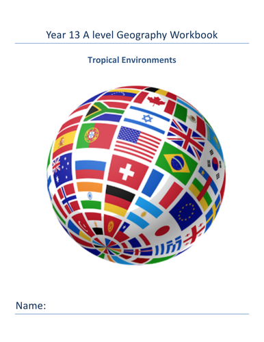 Tropical Environments workbook