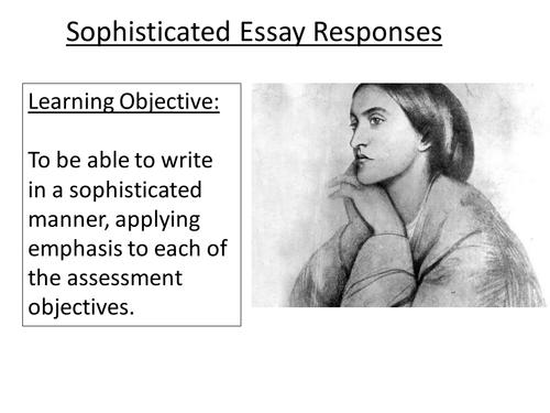 KS5: Christina Rossetti - sophisticated essay planning and writing skills (AQA).
