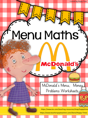 McDonald's Menu Maths (money, decimals)