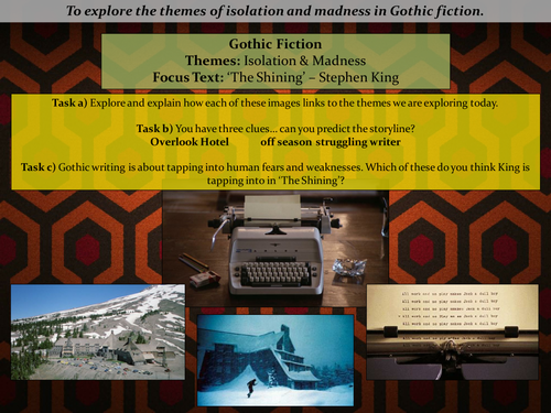 Gothic Fiction: The Shining - Stephen King (lesson 1)