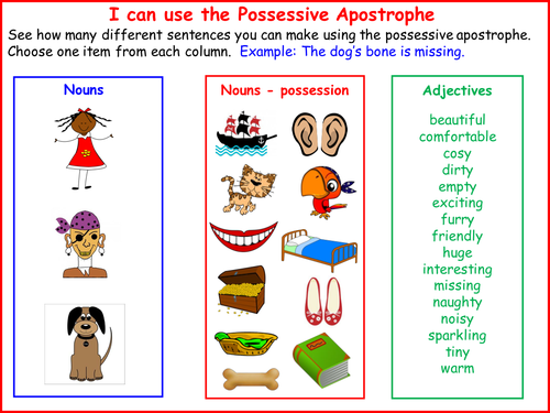 possessive apostrophe practice sheets singular and plural by jazel