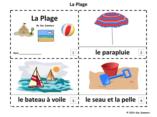 French Beach / Seaside / Coast 2 Emergent Reader Booklets