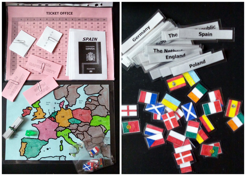 Euro-Trip Geography Game + Worksheets + Extra Card Game