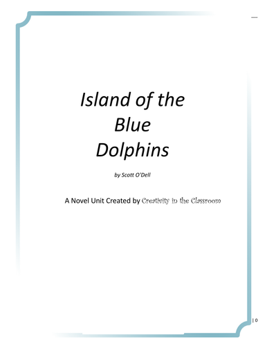 Island Of The Blue Dolphins Study Guide By Espalinski