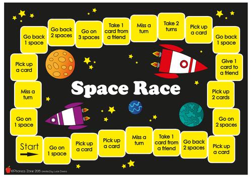 a-e Phonics Game 'Space Race'