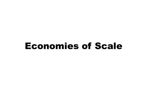 Economies of Scale AS Economics (All Exam Boards)