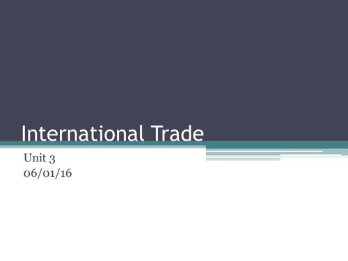 International Trade (Imports /Exports) GCSE Business Studies / Economics