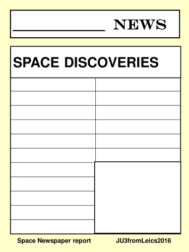SPACE writing activities.  Information and persuasive. Autumn term idea.
