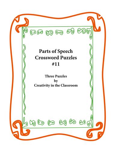 Parts of Speech Crossword Puzzles #11
