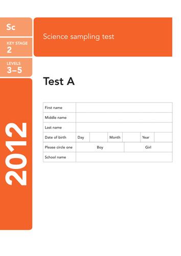 2012 KS2 Sampling Science Level 3-5 Pack