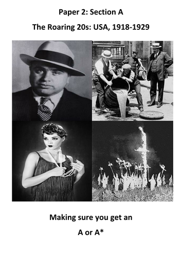 1920s America Revision Booklets (Differentiated)