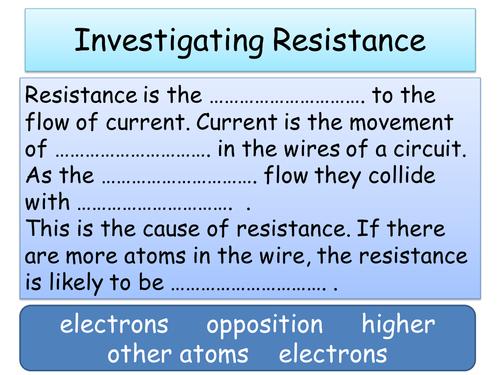 Investigating Resistance