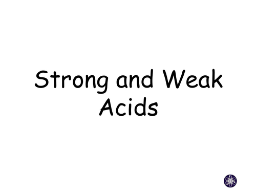 New AQA Trilogy Chemistry GCSE: Strong and Weak Acids
