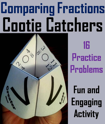 Comparing Fractions Cootie Catchers