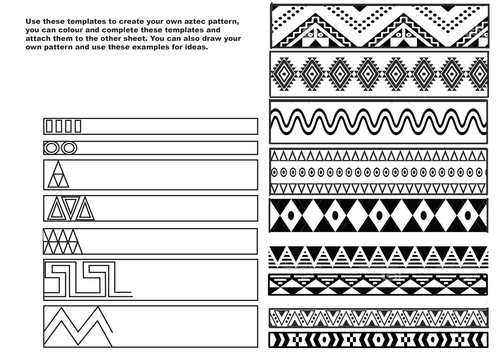 Creating Aztec Patterns by fayegw Teaching Resources Tes – Aztec Worksheets