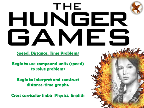 Hunger Games Cross-Curricular Lesson(s) -  Speed Distance Time Graphs