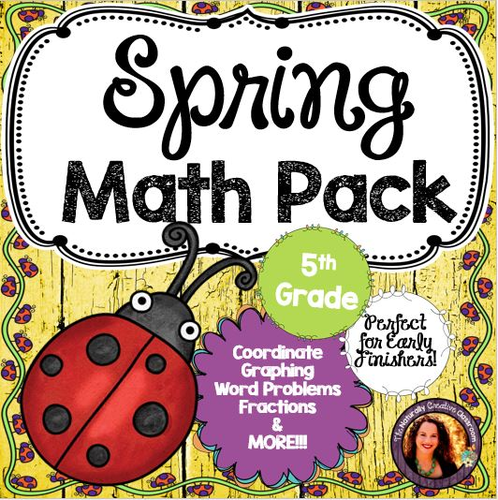 Spring Math Pack for 5th Grade