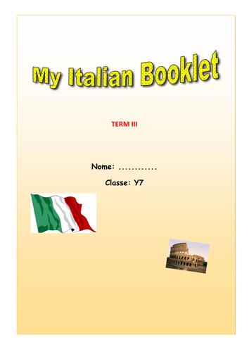 Italiano My Hometown Booklet