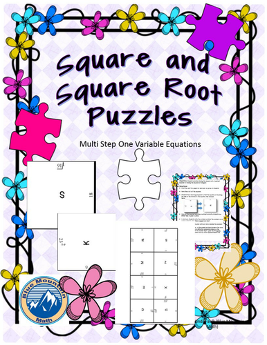 Square and Square Roots Puzzle Set