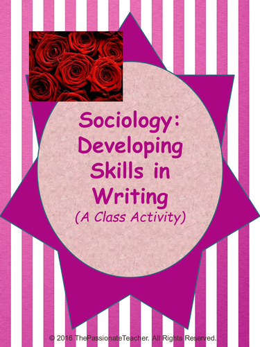 Sociology: Developing skills in writing essays
