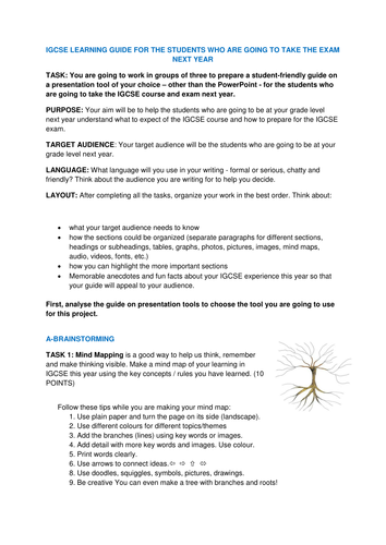 IGCSE LEARNING GUIDE: A GREAT END-OF-THE-YEAR REFLECTION ACTIVITY