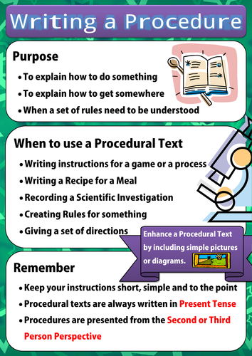 Writing a procedural text poster by for Written procedure template