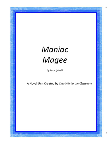 common core lesson plans for maniac magee
