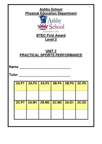BTEC Sport Level 1/2