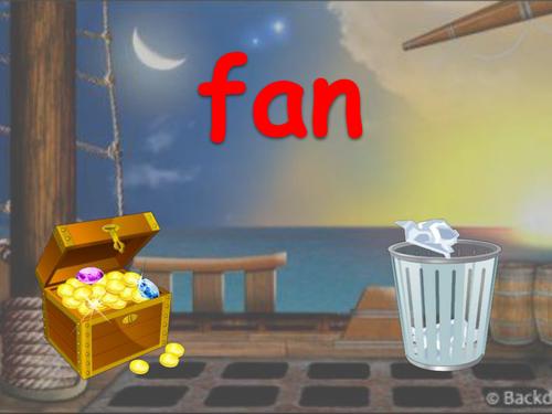 Treasure and Trash Phonics Practice Game