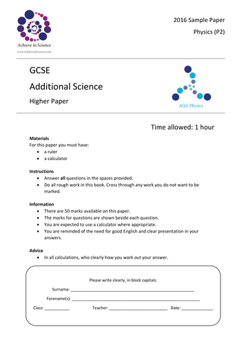 aqa gcse additional science past papers Gcse science aqa gcse additional science aqa gcse chemistry aqa … aqa gcse science new spec all past papers & mark.