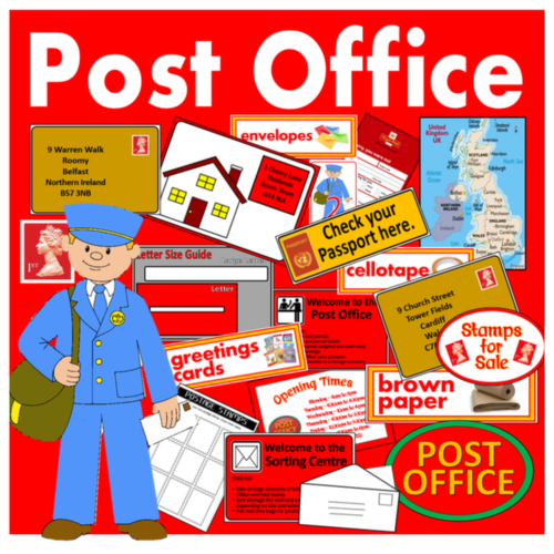 POST OFFICE ROLE PLAY TEACHING RESOURCES EARLY YEARS KEY