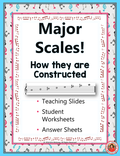 Major Scales: Explanation and Worksheets